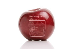 Apple with nutritiion facts